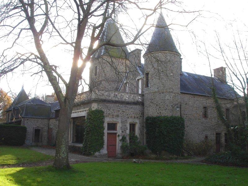 Het bewuste kasteel in Normandië Frankrijk